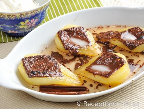 päron med mintchoklad